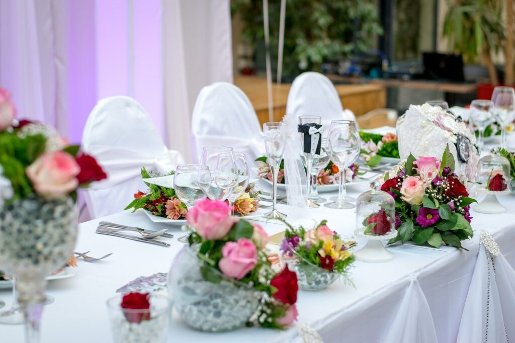 dinner, table, event